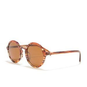 NIB Dolce & Gabbana 49mm Orange Round Sunglasses
